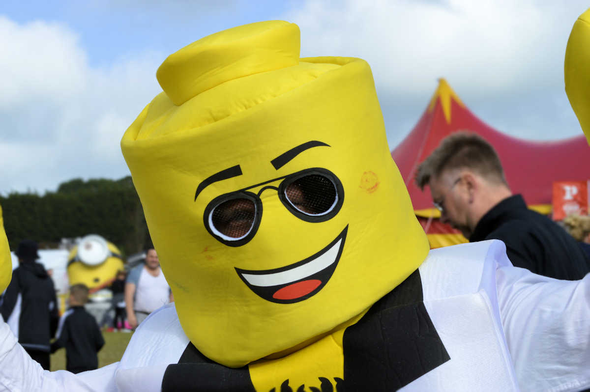 Lego Man at Isle of Wight Festival