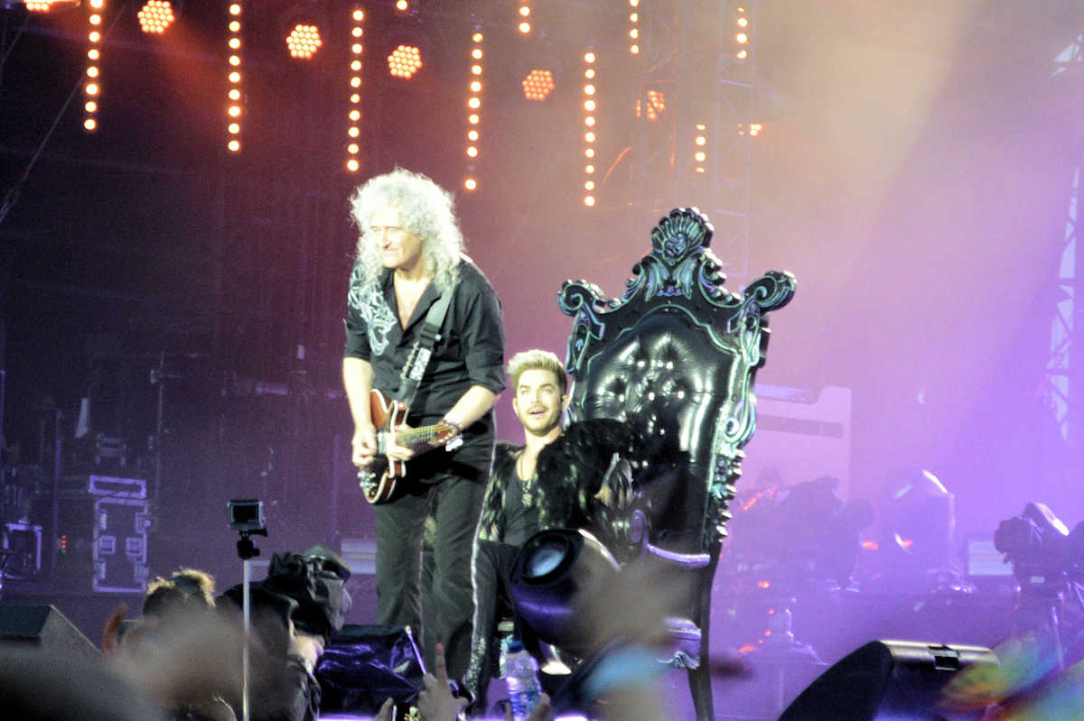 Queen with Brian May & Adam Lambert at Isle of Wight Festival