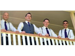 Groom with Best Man & Ushers