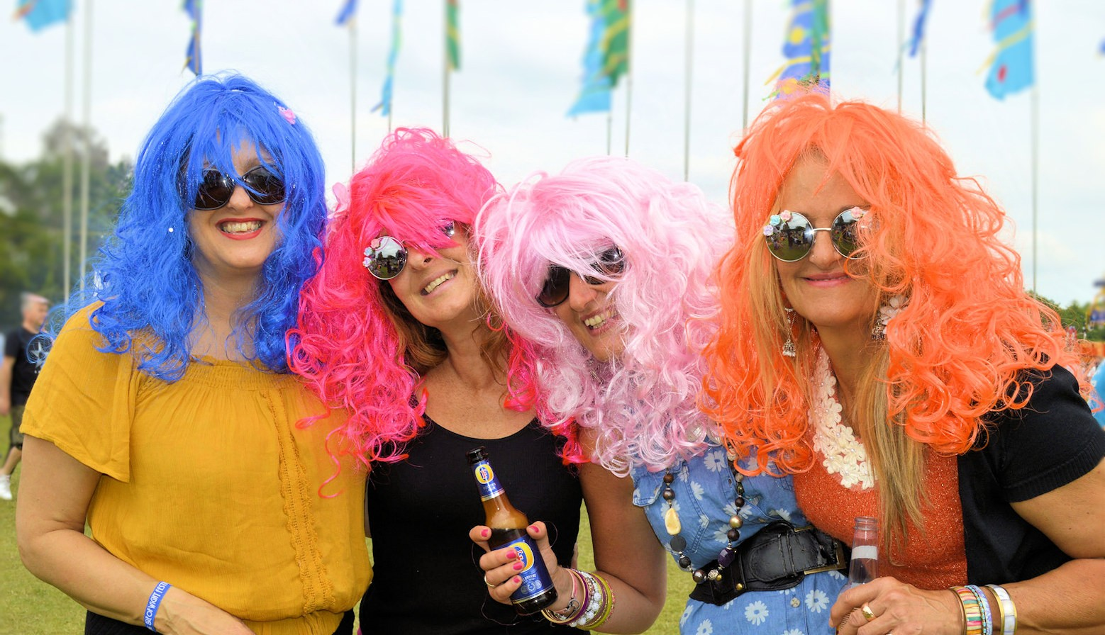 Isle of Wight Festival - Visitors in Colour Wigs